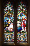 Stained glass window in Christ Church Cathedral Royalty Free Stock Images