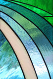 Stained glass window in the church royalty free stock photography