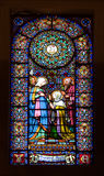 Stained-glass window in church Royalty Free Stock Photography