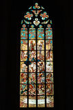 Stained glass window in church Royalty Free Stock Images