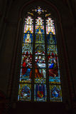 Stained glass window in church Stock Photography