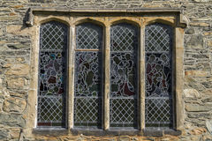 Stained- glass window in church Royalty Free Stock Image