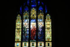 Stained glass window. In church Stock Photos