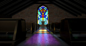 Stained Glass Window Church Stock Photos