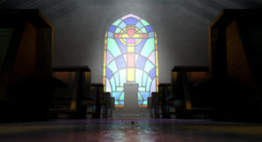 Stained Glass Window Church Royalty Free Stock Photos