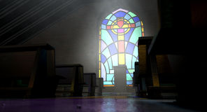 Stained Glass Window Church Stock Photo