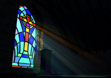 Stained Glass Window Church Royalty Free Stock Images
