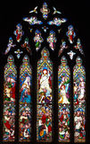 Stained Glass Window. Stained glass church window in Dorking England Royalty Free Stock Image