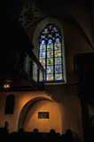 Stained glass window in the church Stock Photo