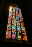 Stained glass window in the church Stock Images