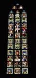 Stained glass window in church Saint Walburga Royalty Free Stock Photo