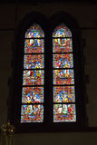 Stained glass window in church Saint Walburga Stock Photography