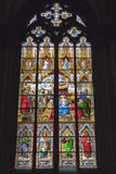 Stained Glass Window, Cologne Stock Photos