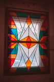 Stained glass window of colored glass Royalty Free Stock Photo