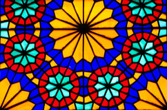 Stained glass window. Colorful stained glass on a window Stock Photography