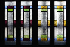 Stained glass window,colorful glass window, stock photo