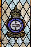 Stained glass window commemorating British Aeroplane and Armaments Experimental Establishment of WW2 Royalty Free Stock Photography
