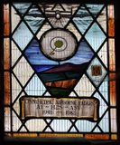 Stained glass window commemorating British development of airborne radar and H2S in WW2 Stock Image