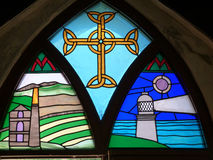 Stained glass window in Cornwall Royalty Free Stock Photography