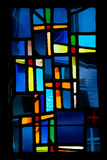 Stained Glass Window Cross Royalty Free Stock Photography