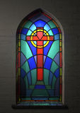 Stained Glass Window Crucifix Stock Images