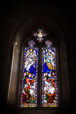 Stained Glass Window, Dark Lighting Royalty Free Stock Photography