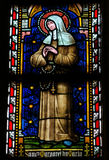 Stained glass window depicting the Catholic Saint Margaret Mary Stock Photography