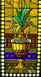 Stained glass window detail royalty free stock images