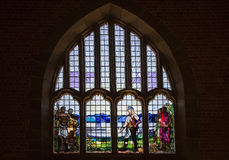 Stained glass window of Dr Livingstone - Livingstonia Mission Church Royalty Free Stock Photography