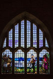 Stained glass window of Dr Livingstone - Livingstonia Mission Church Stock Photography