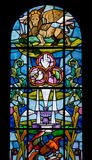Stained Glass Window of the Duomo in Palmanova Royalty Free Stock Images