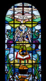 Stained Glass Window of the Duomo in Palmanova. Italy Royalty Free Stock Images