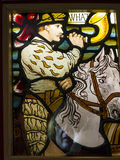 Stained Glass Window Exhibit in the Regimental Museum in the City Museum in Lancaster England in the Centre of the City Stock Photos