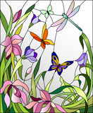 Stained glass window stock illustration
