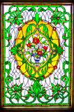 Stained Glass Window Fully Framed Royalty Free Stock Photo