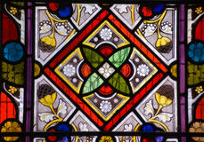 Stained glass window - geometric pattern Royalty Free Stock Photos