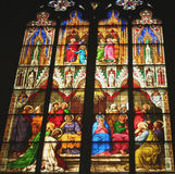 Stained Glass window Germany. Stained Glass window in the World Heritage site, the Dom Cathedral Koln, Cologne, Germany Royalty Free Stock Photo
