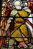Stained glass window in the Glasgow cathedral Royalty Free Stock Photography