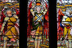 Stained glass window in the Glasgow cathedral Stock Photo