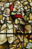 Stained glass window in the Glasgow cathedral Royalty Free Stock Images