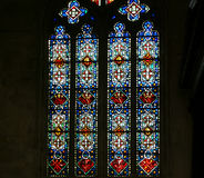 Stained glass window. Gothic cathedral of Saint Gatien, Tours, France Royalty Free Stock Photos