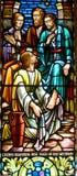 Stained glass window. HALIFAX NOVA SCOTIA JUNE 5: Stained glass window St. Paul's Church is an evangelical Anglican church in Halifax. Nova Scotia, Canada, June Stock Image