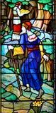 Stained glass window. HALIFAX NOVA SCOTIA JUNE 5: Stained glass window St. Paul's Church is an evangelical Anglican church in Halifax. Nova Scotia, Canada, June Royalty Free Stock Photo