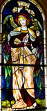 Stained glass window. HALIFAX NOVA SCOTIA JUNE 5: Stained glass window St. Paul's Church is an evangelical Anglican church in Halifax. Nova Scotia, Canada, June Royalty Free Stock Image