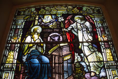 Stained Glass Window Holy Trinity Church Royalty Free Stock Photos