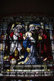Stained Glass Window Holy Trinity Church, Quebec City Royalty Free Stock Images
