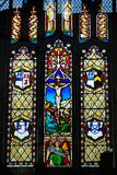 Stained Glass window. Inside All Saints church Necton Stock Photography