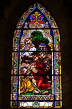 Stained glass window. Inside catholic church, Bariloche, Argentina Royalty Free Stock Photography