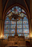 Stained-glass window inside the church Royalty Free Stock Photos