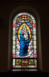 Stained Glass Window Inside Church Stock Photography